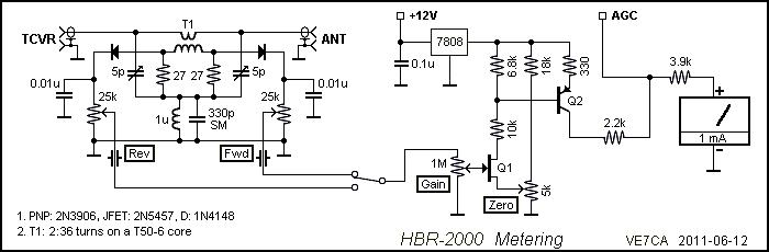 ve7ca u003e homebrew u003e hbr2000 rh ve7ca net S Meter Kit LED S-meter