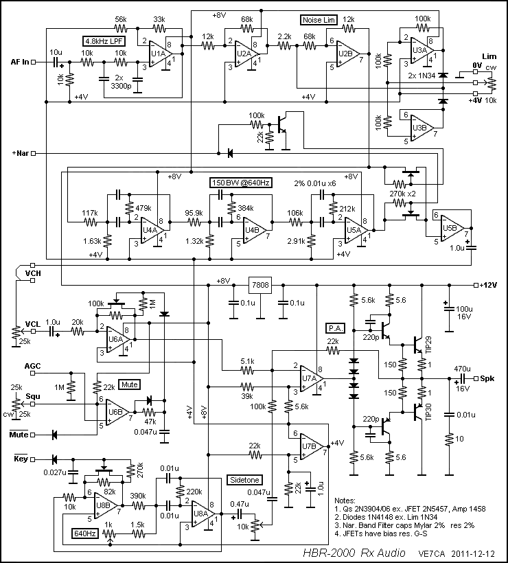 ve7ca homebrew hbr2000 Television FM Transmitter Block Diagram audio module schematic